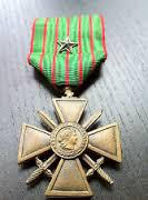 A Croix de Guerre Medal like the one awarded to Drig Lad Harry Benton.
