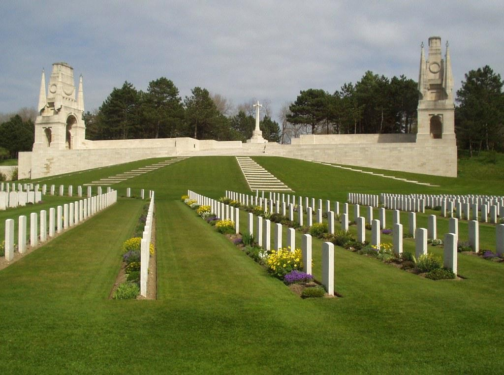 Etaples Military Cemetery, France, where Ernest Helliwell is buried.