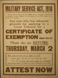 Exemption Poster 1916