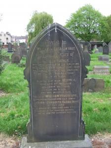 Hart family headstone © C Sklinar 2014