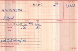 Pvte., Albert Wilkinson via Medal Card, Ancestry.co.uk