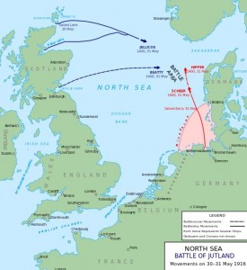 Jutland map via Wikipedia
