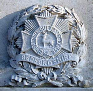 Bedfordshire Regiment logo via Bedfordshire Council
