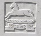 Prince of Wale's Own Regiment headstone logo