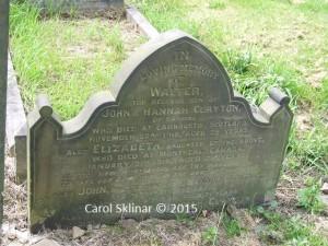 Walter Clayton & family headstone © C Sklinar 2015