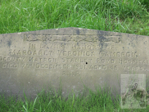 Margaret V Cameron headstone © C Sklinar 2015