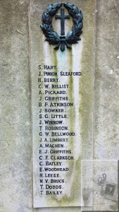 John Pinion Sleaford, West Riding Constabulary War Memorial